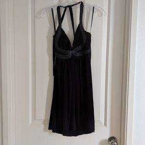 Black Sky Halter Dress